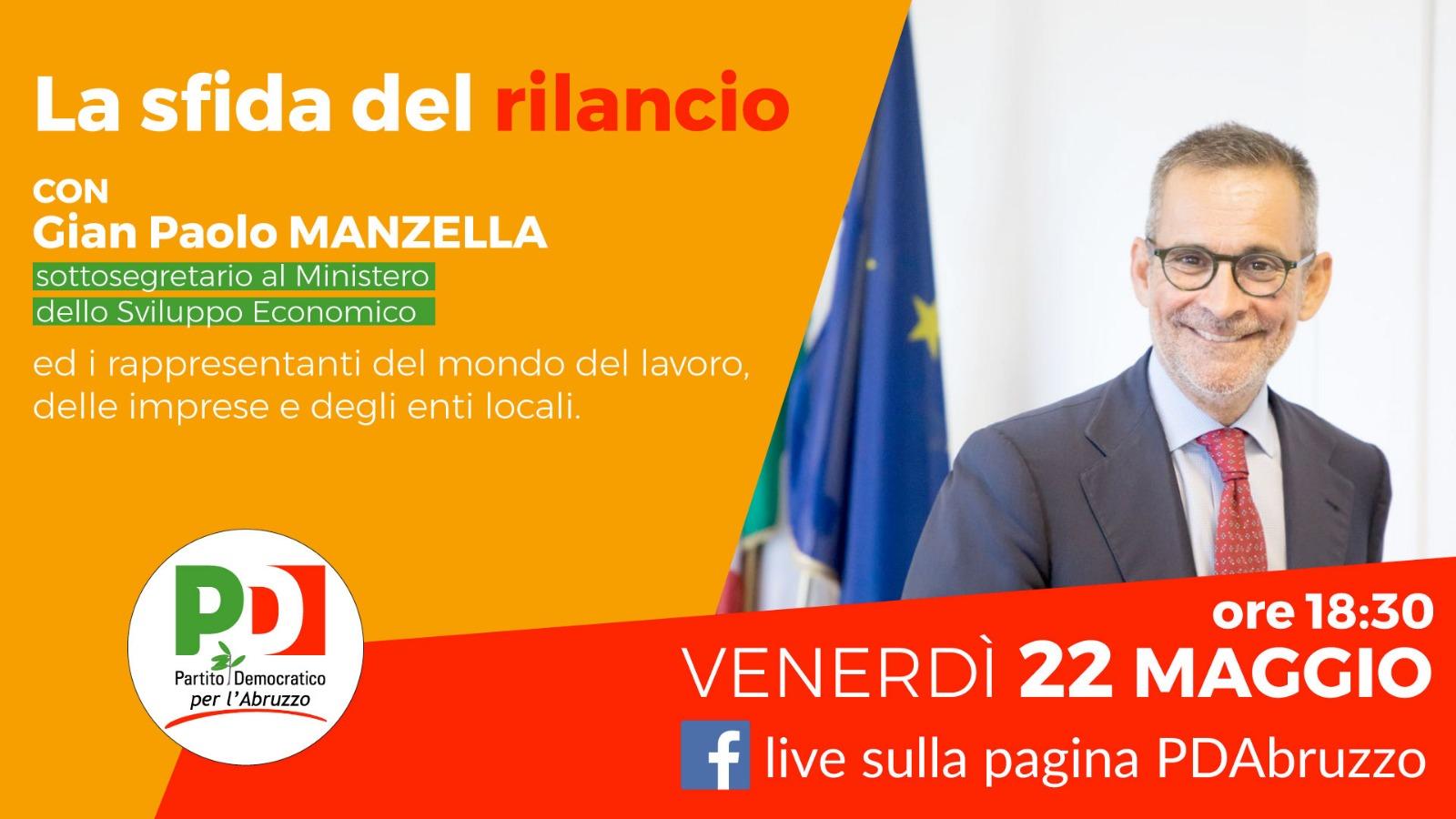 La sfida del rilancio: il 22 maggio incontro con il sottosegretario Manzella