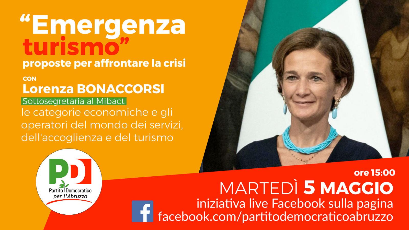 Emergenza turismo: il 5 maggio il PD Abruzzo incontra la sottosegretaria Bonaccorsi