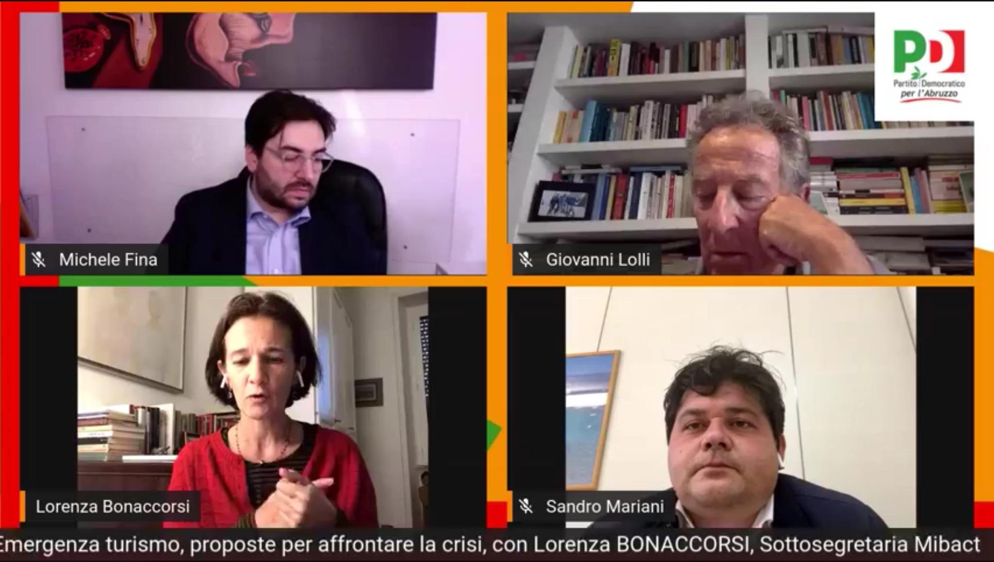 Emergenza turismo, il PD Abruzzo incontra la sottosegretaria Bonaccorsi. Le misure per il rilancio