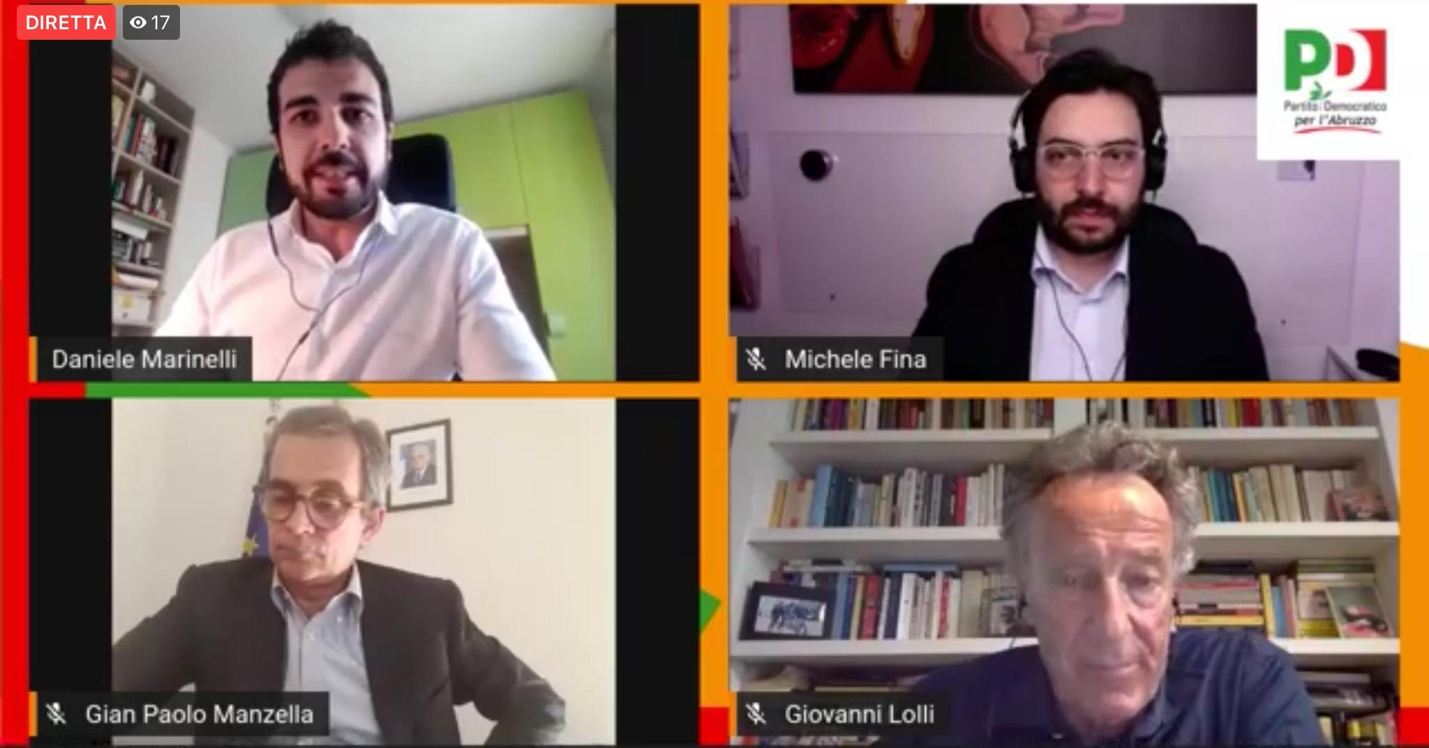Ripartire in Abruzzo: il sottosegretario Manzella all'incontro del PD regionale