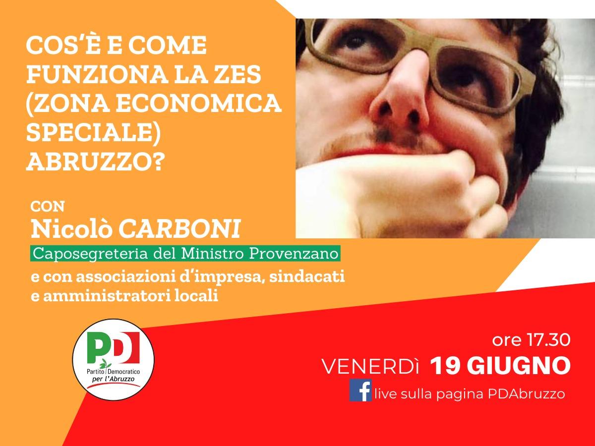 Zes Abruzzo, venerdì 19 giugno incontro del PD regionale