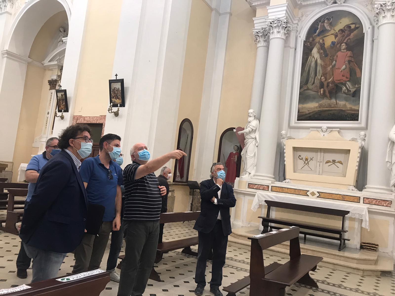 """Sopralluogo Soprintendenza a San Valentino, Blasioli: """"Continua il lavoro"""""""