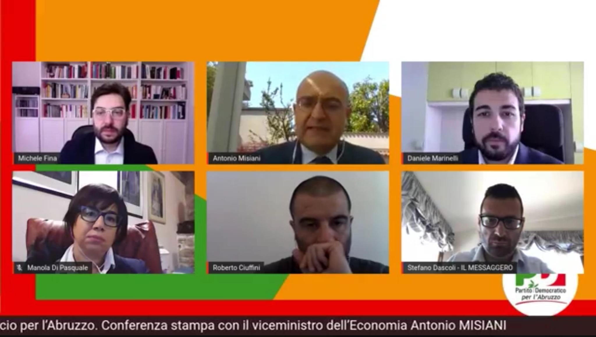Le misure del governo contro la crisi in Abruzzo. Le cifre nella conferenza stampa del PD con il viceministro Misiani