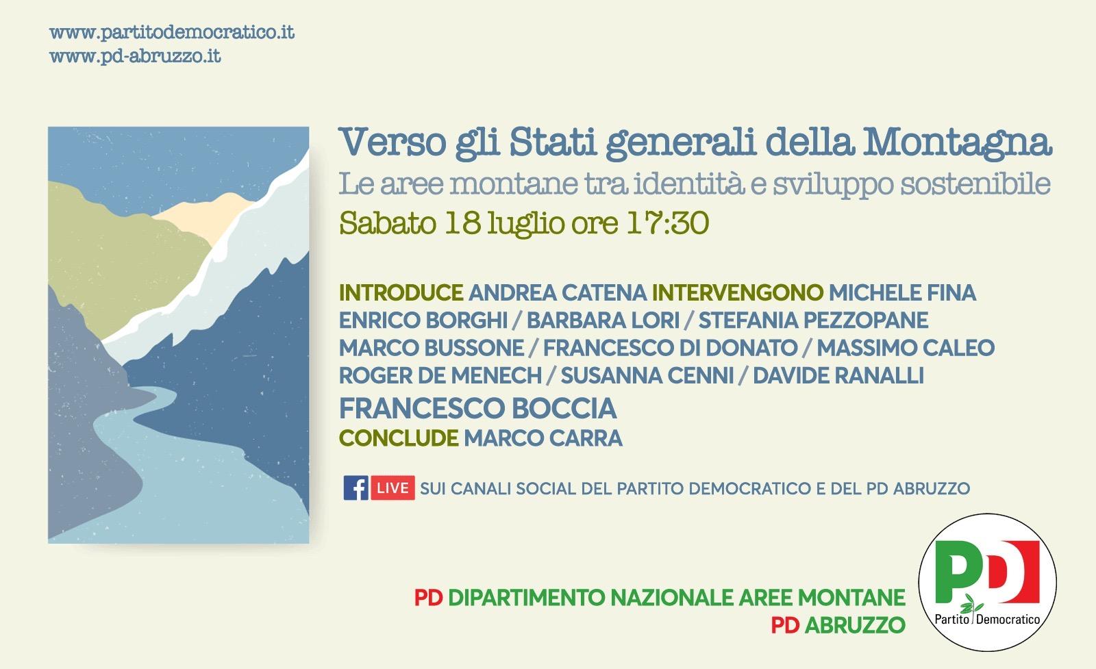 Verso gli Stati generali della montagna: sabato 18 luglio l'evento in diretta Facebook