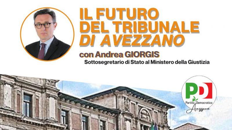 Il futuro del Tribunale di Avezzano: il 5 agosto l'incontro con il sottosegretario Giorgis