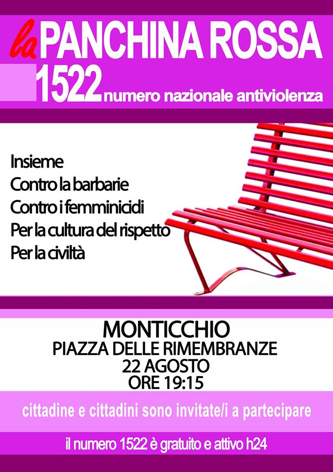 La panchina rossa 1522 a Monticchio