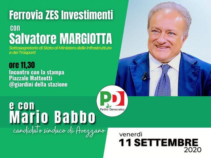 Venerdì 11 settembre il sottosegretario Margiotta ad Avezzano per Mario Babbo