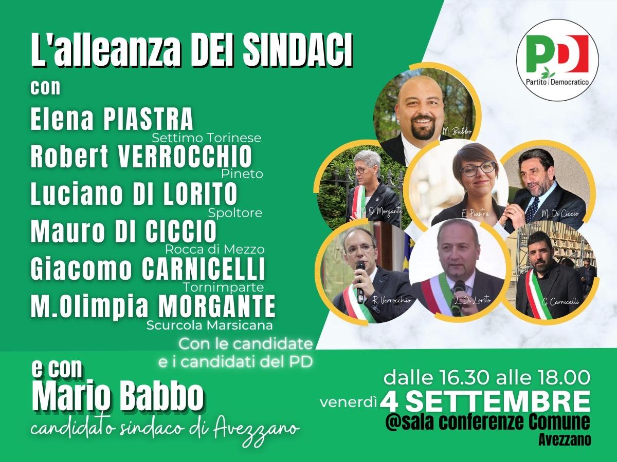 L'alleanza dei sindaci: venerdì 4 settembre l'evento ad Avezzano