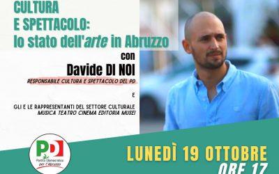 Interventi per la cultura e lo spettacolo: lunedì 19 ottobre l'incontro con il responsabile nazionale Pd