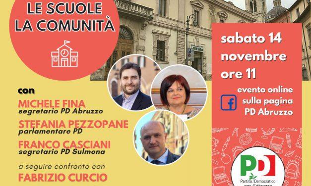 Le scuole, la Comunita': il 14 novembre l'evento online