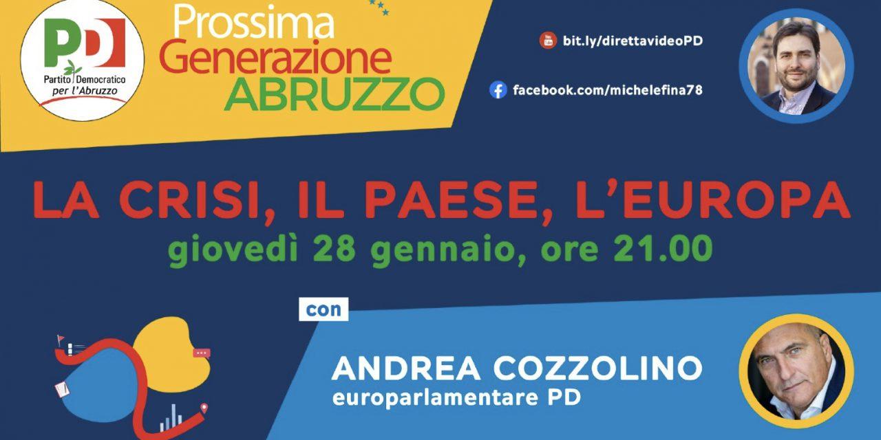 Prossima generazione Abruzzo, il 28 gennaio incontro con cozzolino
