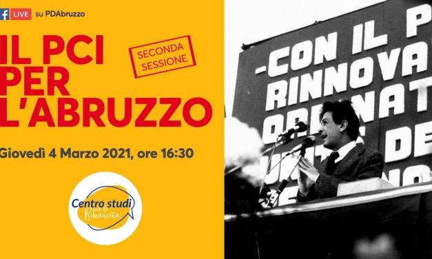 Il Pci per l'Abruzzo: giovedì 4 marzo la seconda parte