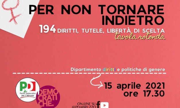Legge 194, giovedì 15 aprile l'incontro del Pd Abruzzo