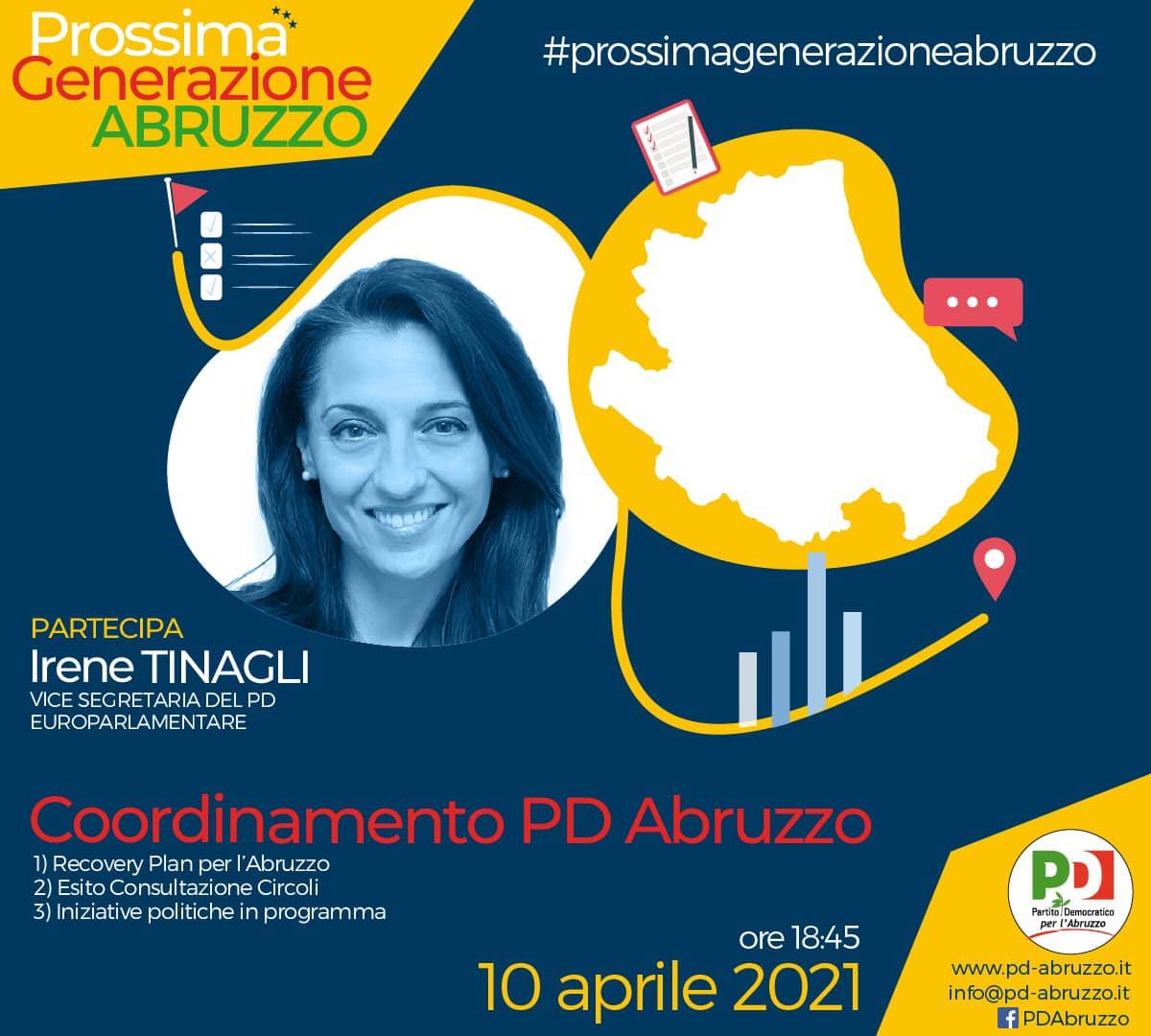 Il 10 aprile il coordinamento del pd abruzzo con irene tinagli
