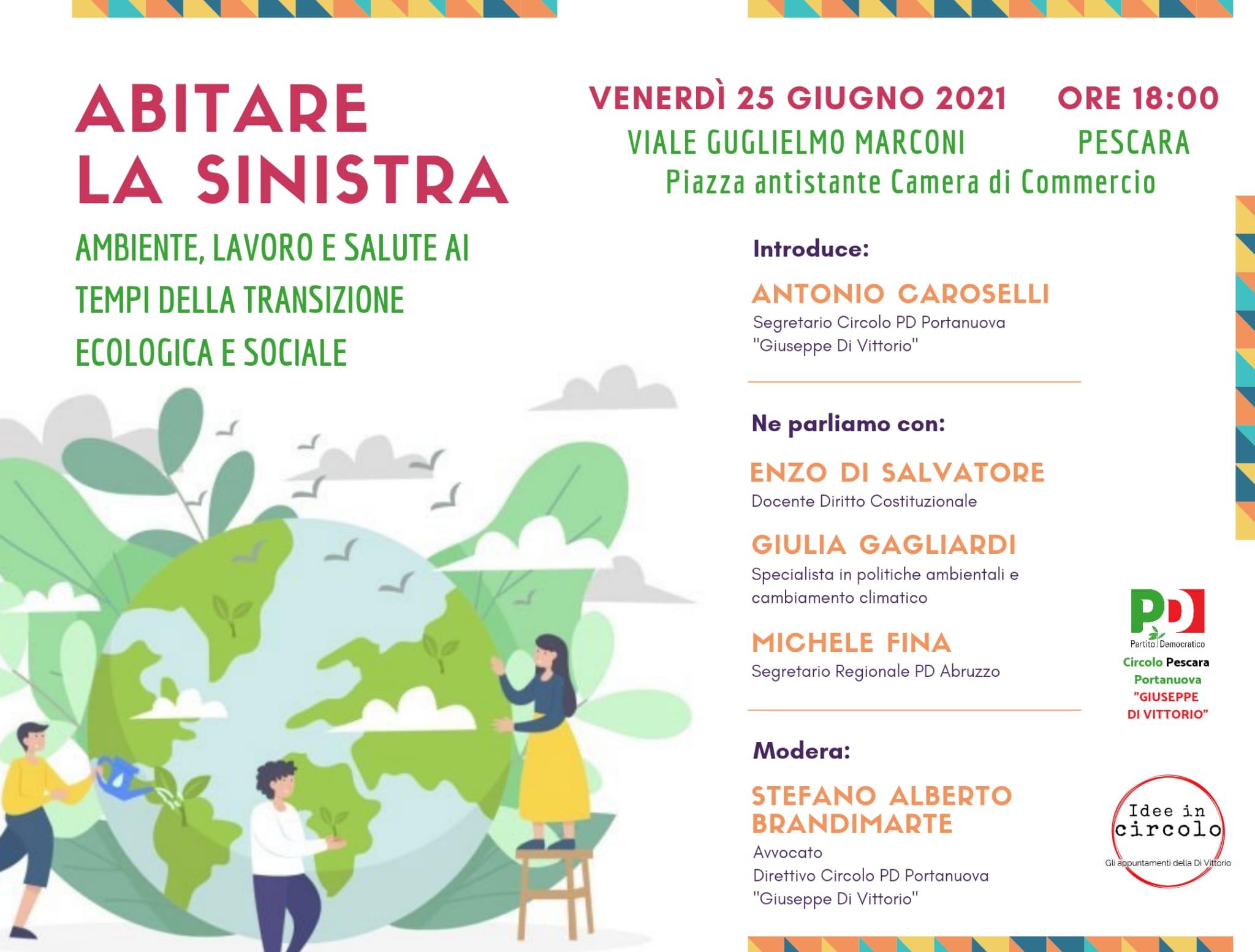Abitare la sinistra: il 25 giugno l'evento del circolo Di Vittorio