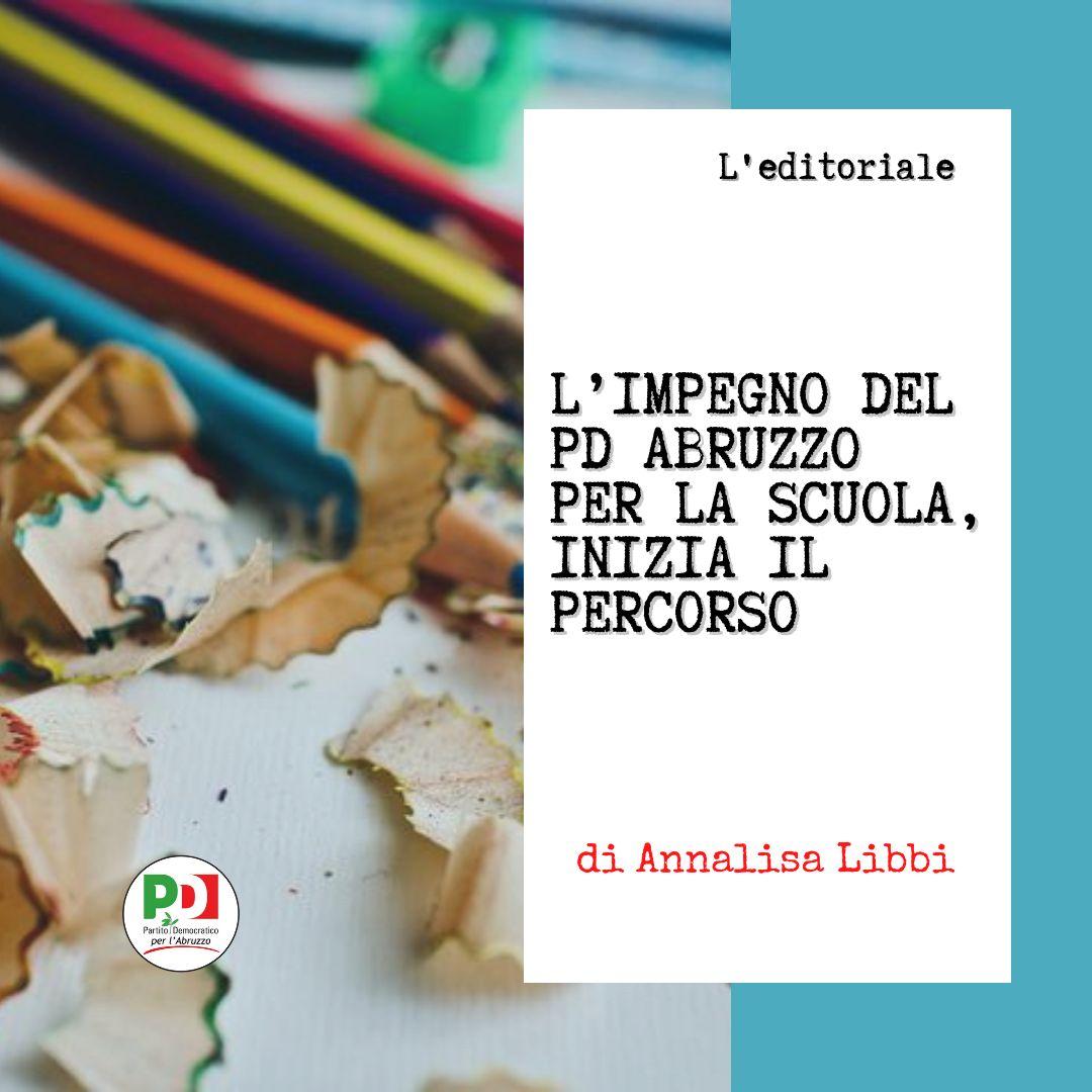 L'impegno del PD Abruzzo per la scuola, inizia il percorso