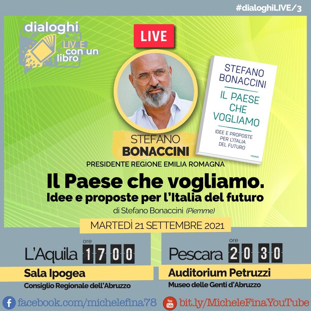 """Il 20 e 21 settembre Bonaccini in Abruzzo. Fina: """"Portiamo con lui buona amministrazione, competenze e conoscenze"""""""