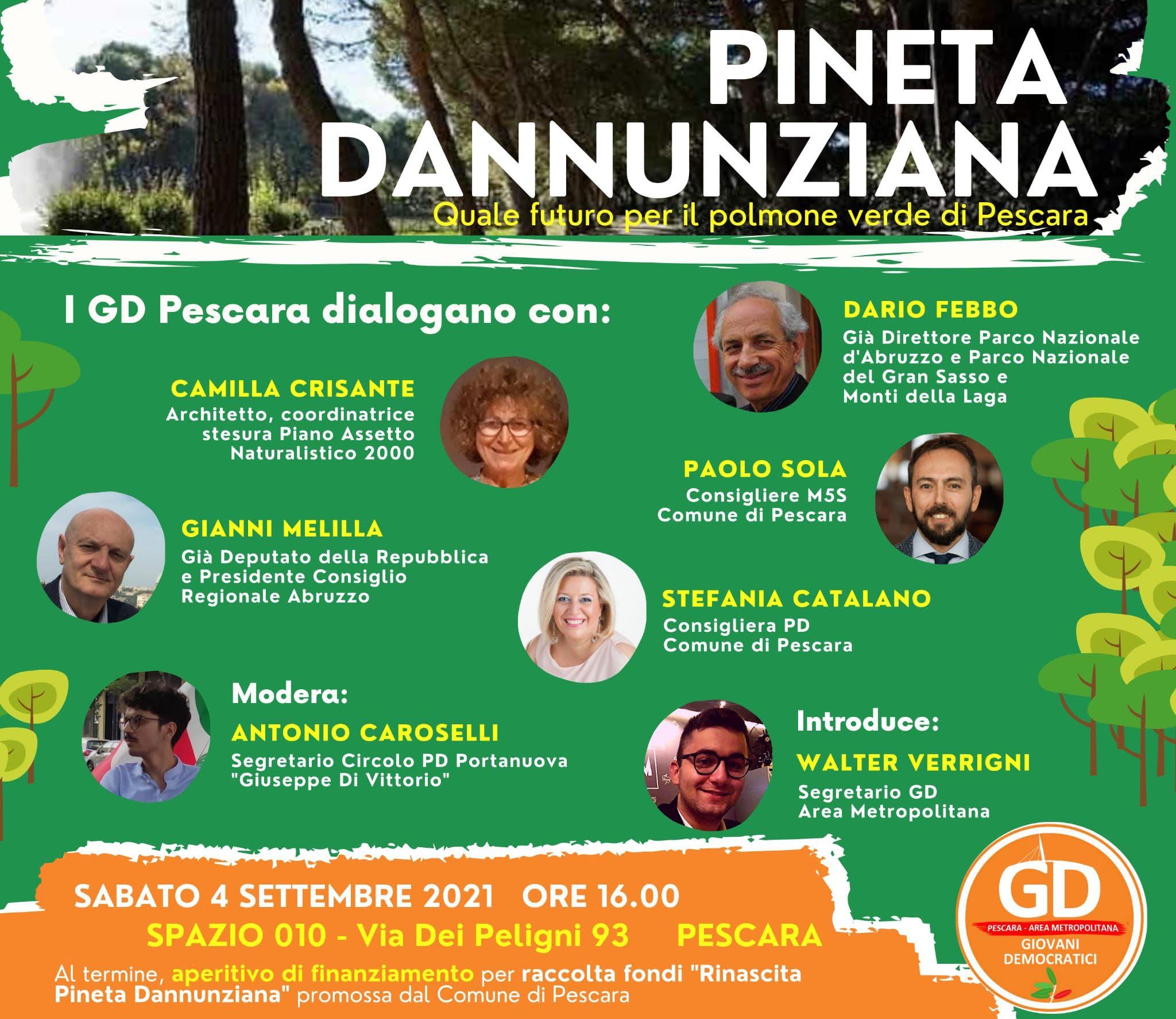 """Il 4 settembre l'iniziativa """"Quale futuro per il polmone verde di Pescara"""""""