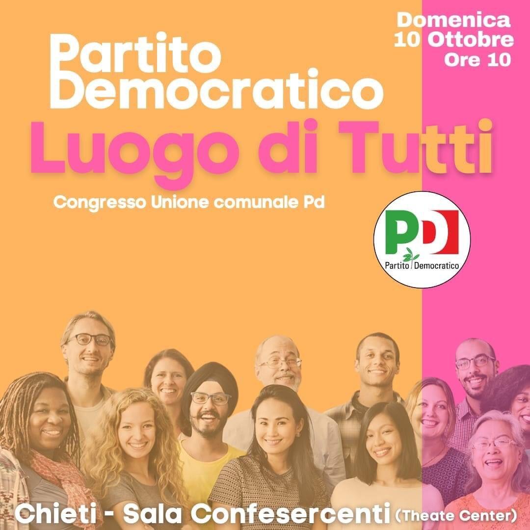 Il 10 ottobre il Congresso del PD di Chieti